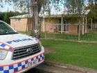 Police keep close watch at a Hook St unit following an incident overnight.