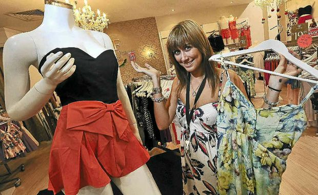 Foxx Foe manager Melissa Forsyth worked hard to keep up with the crowds going crazy over the huge sale.