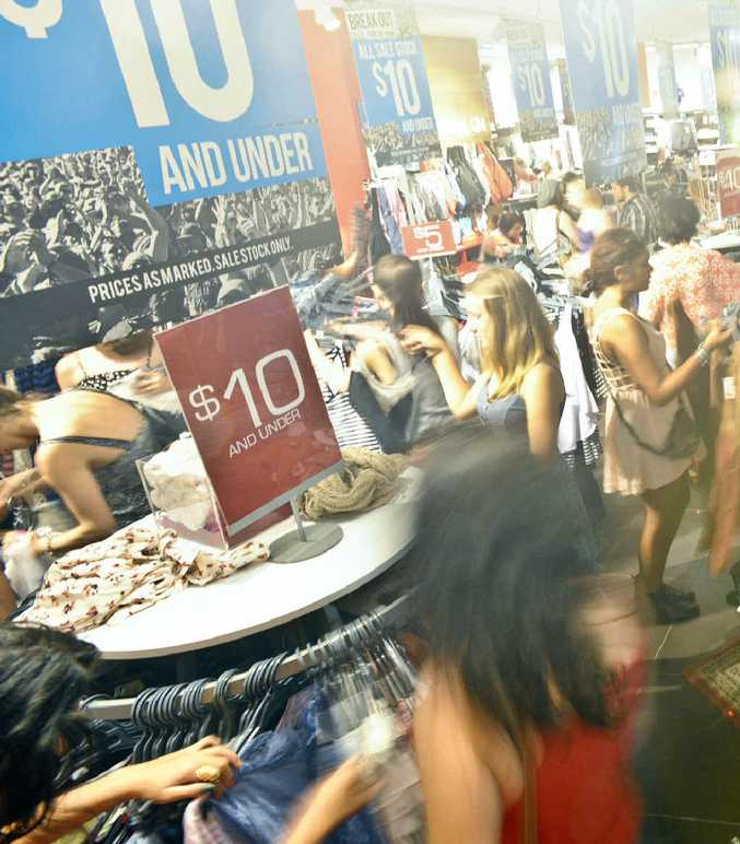The crowds revelled in the Boxing Day sales at the Park Beach Plaza on Monday.