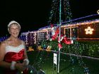 Dawn Mansfield of Bernborough Ave with her Christmas light display.