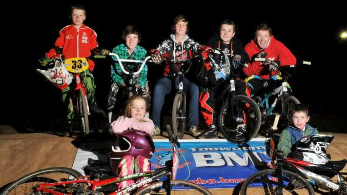 Toowoomba BMX Club riders (front, from left) Sheridan Flint, Nicholas Kajewski, (back, from left) Matt Flint, Kyle Shannon, Tim Dent, Mitchell McCarroll and Nathan Graves are expecting another successful year in 2012 thanks to the upgraded race track.