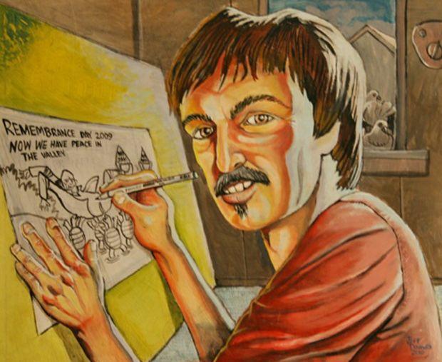 A self-portrait by Jeff Douwes.