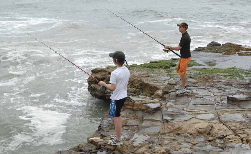 People fishing off rocks are urged to check the warnings this week.
