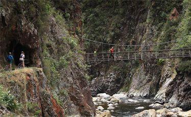 A swing bridge near the Talisman Mine.