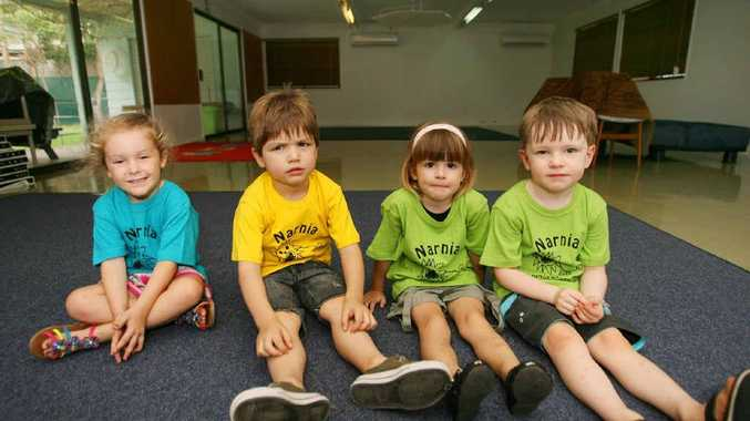 Allana Bauer, Elijah Girdler, Hayley Hallam and Cooper Fogwell are meant to be attending Narnia Kindergarten next year.