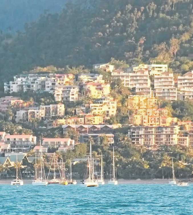 Almost Full: Hotels at Airlie Beach have been almost booked out over the holiday season.