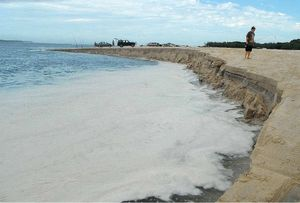 Severe erosion caused by high tides at Inskip Point beach is unlikely to get worse. Barges continue to run.