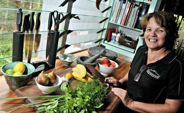 Jan Daniels, of Jan@Home Cooking Classes in Buderim, gears up for an influx of culinary students.
