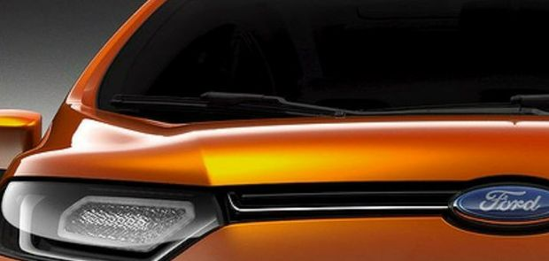 A teaser image of the Ford EcoSport.