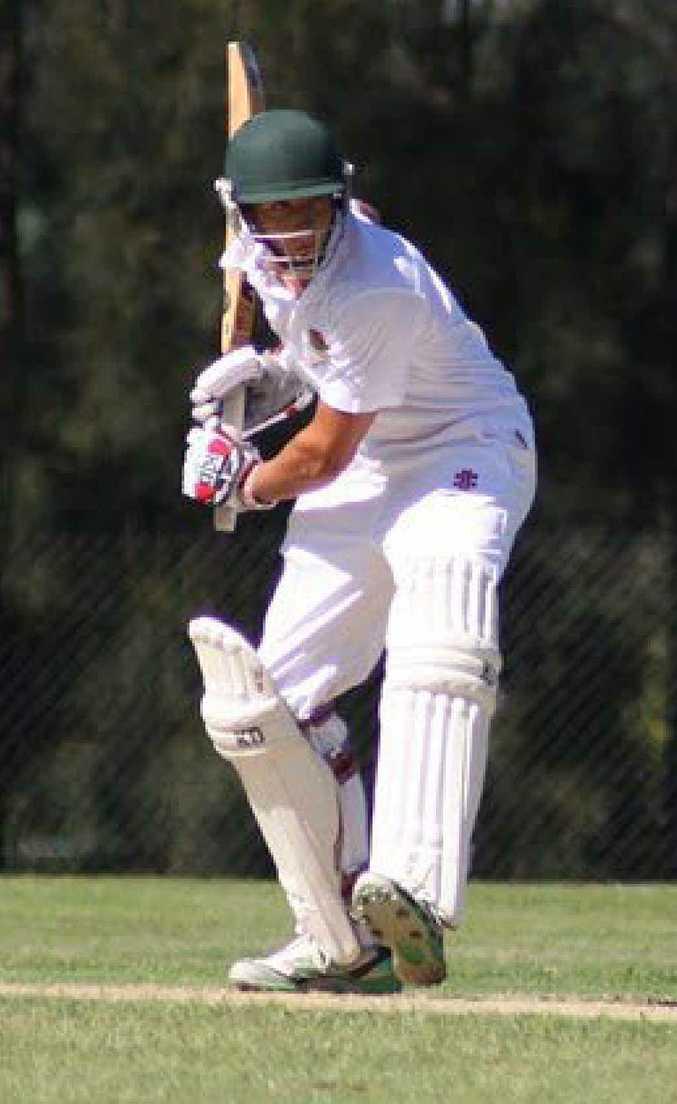 Dain Moreton batting for St John's College, Woodlawn, at the 2010 Marist cricket carnival.
