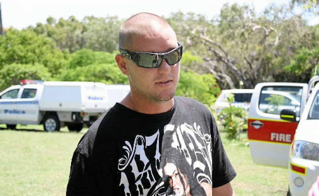 Col Ibbertson raced over to rescue his neighbour and her family when he noticed flames coming from the Emu Park home.