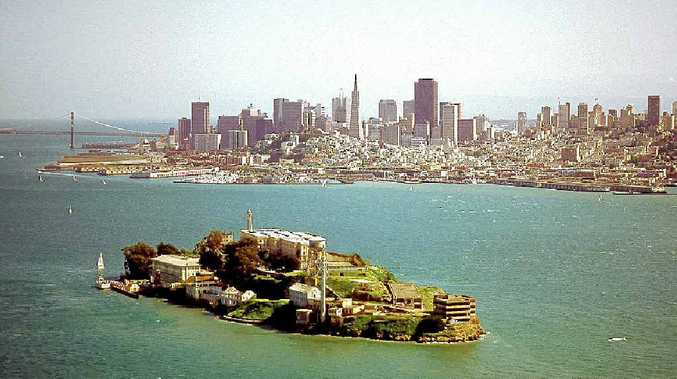 NO ESCAPE: San Francisco Bay's most notorious tourist attraction, the old prison on Alcatraz Island.