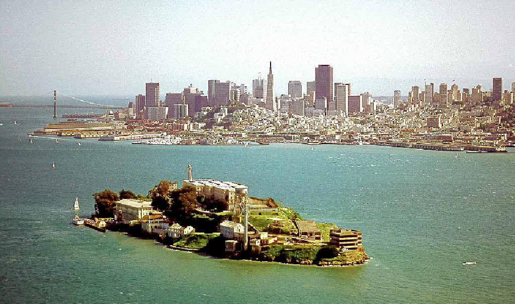 NO ESCAPE: San Francisco Bay's most notorious tourist attraction, the old prison on Alcatraz Island.