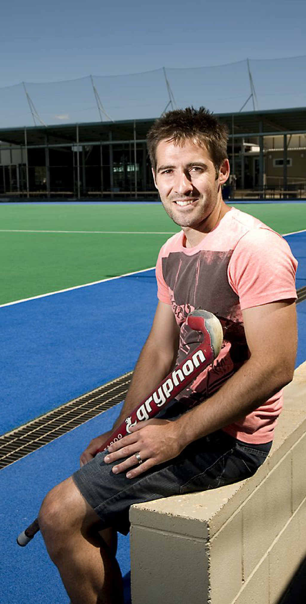 Australian hockey player Kiel Brown admires the improvements to his former Clyde Park stomping ground.