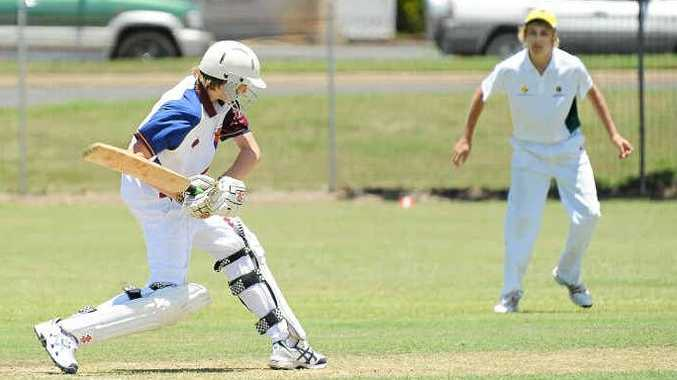 Brisbane North's Ben Hayler faces a delivery from South East Queensland.