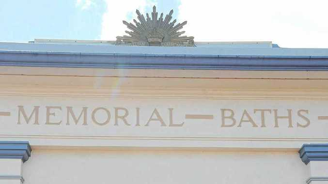 NO SWIMMING: The Lismore Memorial Baths were closed for Monday's public holiday.
