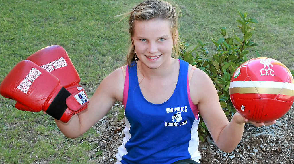 Britnee Wallace is a sports achiever in boxing and football.
