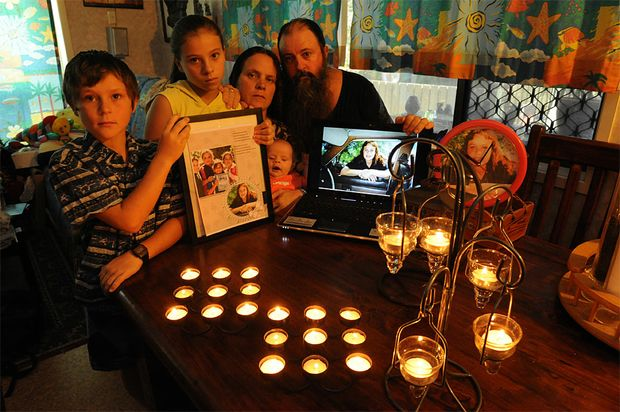 Mikey, Kiara, Jenny, Baby Rocko and Mick Peet will be holding an online candle light vigil for missing Lateesha Nolan.