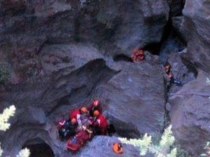 Waterfall rescuers grieve for teen