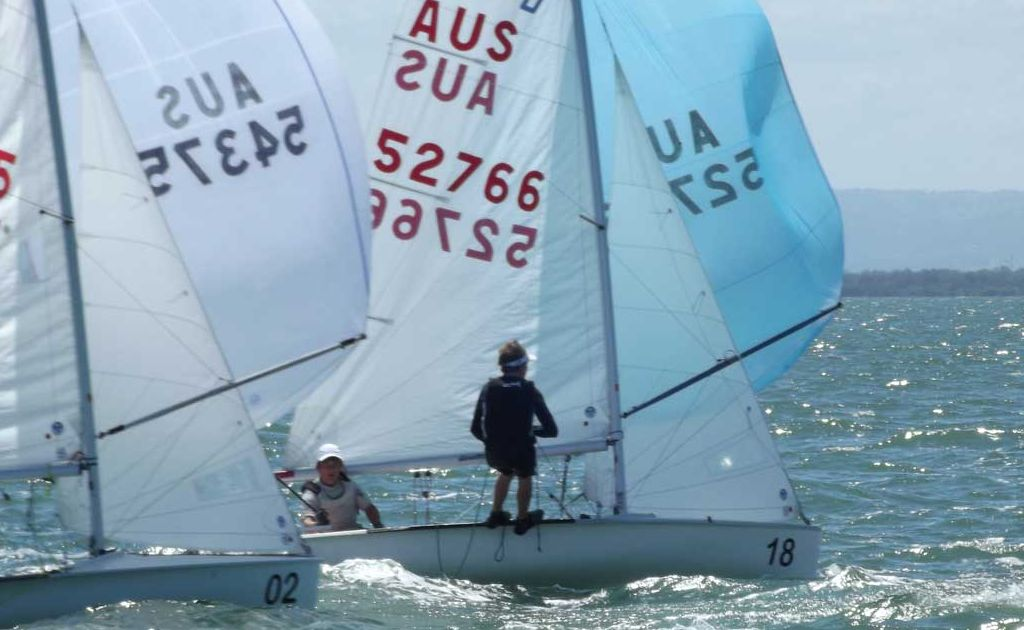TEAM EFFORT: Whitsunday 420 sailors Klaus Lorenz and Ollie Annear came eighth overall at the 420 Nationals Sailing Championships in Redcliffe this week. Photo Contributed