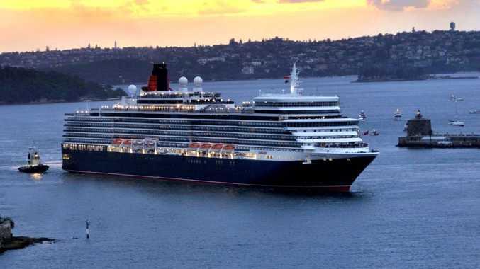 Cunard's Queen Elizabeth in Sydney.
