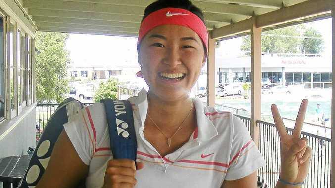Lismore Open women's singles champion Nana Miyakawa from the Gold Coast.