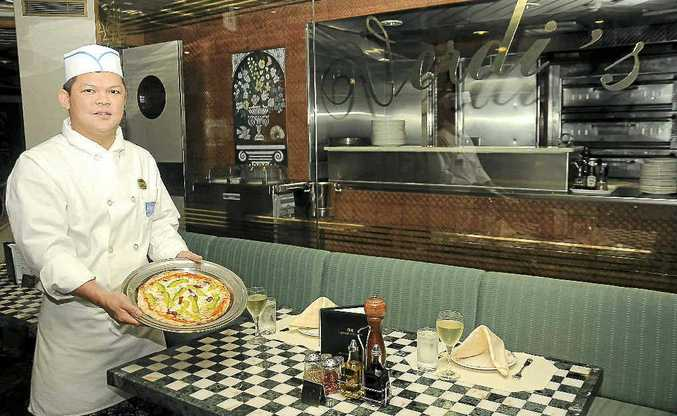 The Brisbane-based Sun Princess ship has some of the best pizzas afloat at Verdi's Pizzeria, courtesy of Enrico Torres.