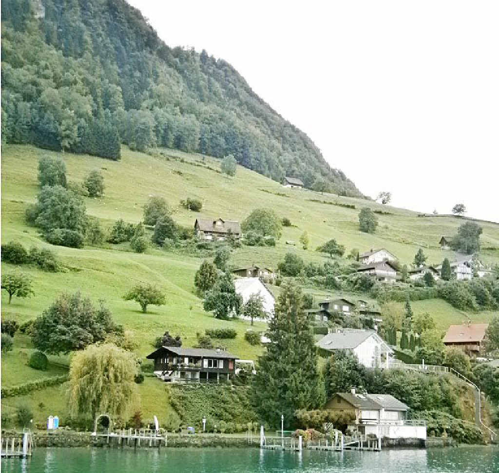 MAJESTIC: The lush-green view on the boat trip from Lucerne to Stansstad.