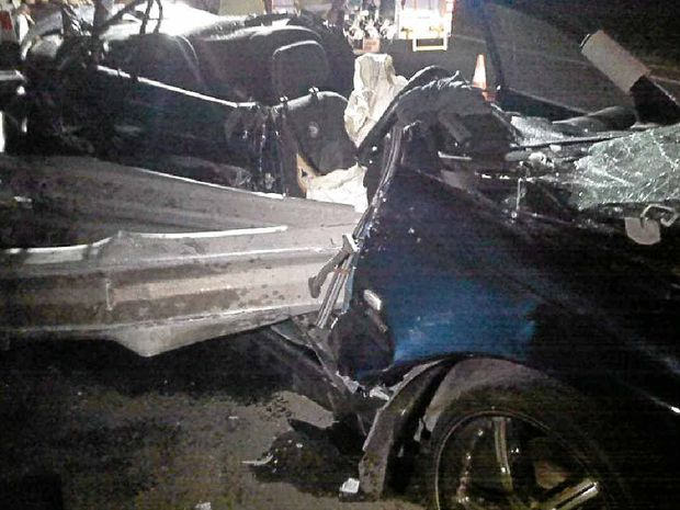 A man survived a horror crash on the Bruce Highway at Tanawha about 11pm on January 6.
