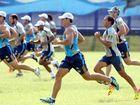 Gold Coast titans train in the heat.