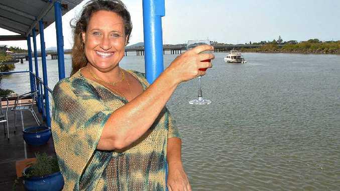 Maya Maja looks forward to the opening of Maria's Donkey bar in Mackay.
