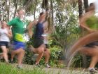 Gladstone Road Runners at the Duck Ponds footpath on Glenlyon Rd, Gladstone.
