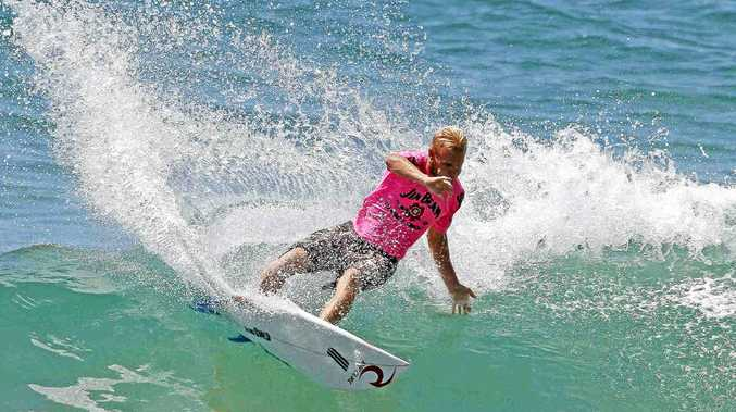 A file shot of Stuart Kennedy, whose wedding this Saturday has complicated Le-Ba's bid to qualify for the Surftag national finals at Ballina next month.