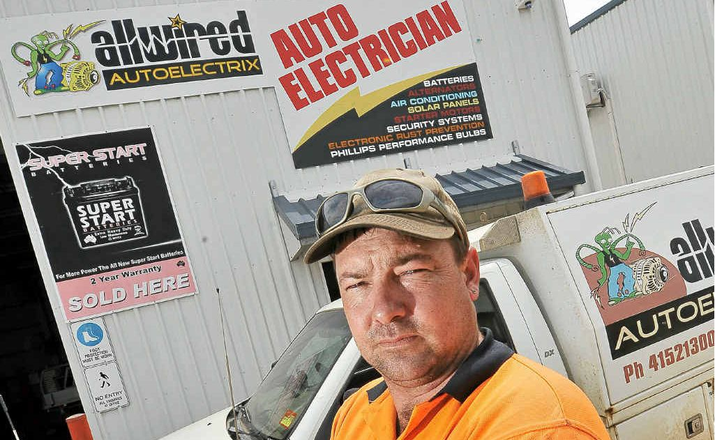 Allwired Autoelectrix's Dale Hiscock is tired of employing apprentices only to lose them to the mines as soon as their training is finished.