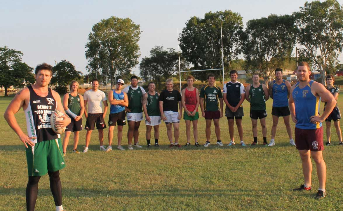 PREPARATION TIME: Jack Bourke (coach), Dean Connell, Andrew Bell, Christ McEwan, Bryce Fraser, Michael Newman, Dean Dries, James Coutts, Alex Richards, Sam McNeill, Matt Lade, Sam Gannon, Jerrol Miller, Nathan Ohara and Adam Wright (coach) turned up forthe first Whitsunday Brahman's training session on Tuesday.