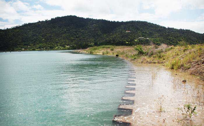 HIGH WATER: Whitsunday photographer Toby Kroner sent in this picture of a high tide at port of Airlie, taken over the Christmas break.