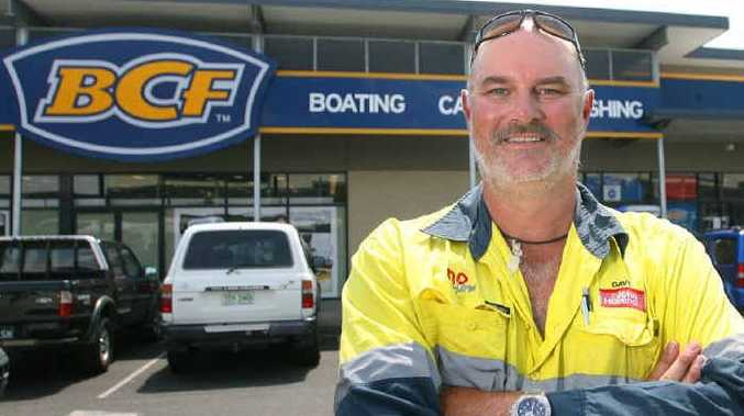 The only thing Blackwater miner Dave Devine loves to do more than fishing on his seven days off is shopping at Rockhampton's BCF store in the Red Hill Homemaker Centre.