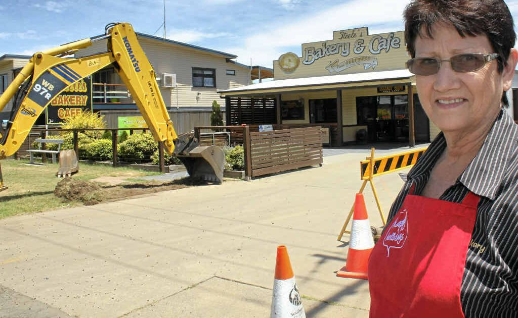 Gail Steele is waiting for the Fitzroy St roadworks to finish up so business can get back to normal.