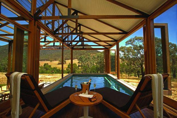 Wolgan Valley Resort & Spa private pool.