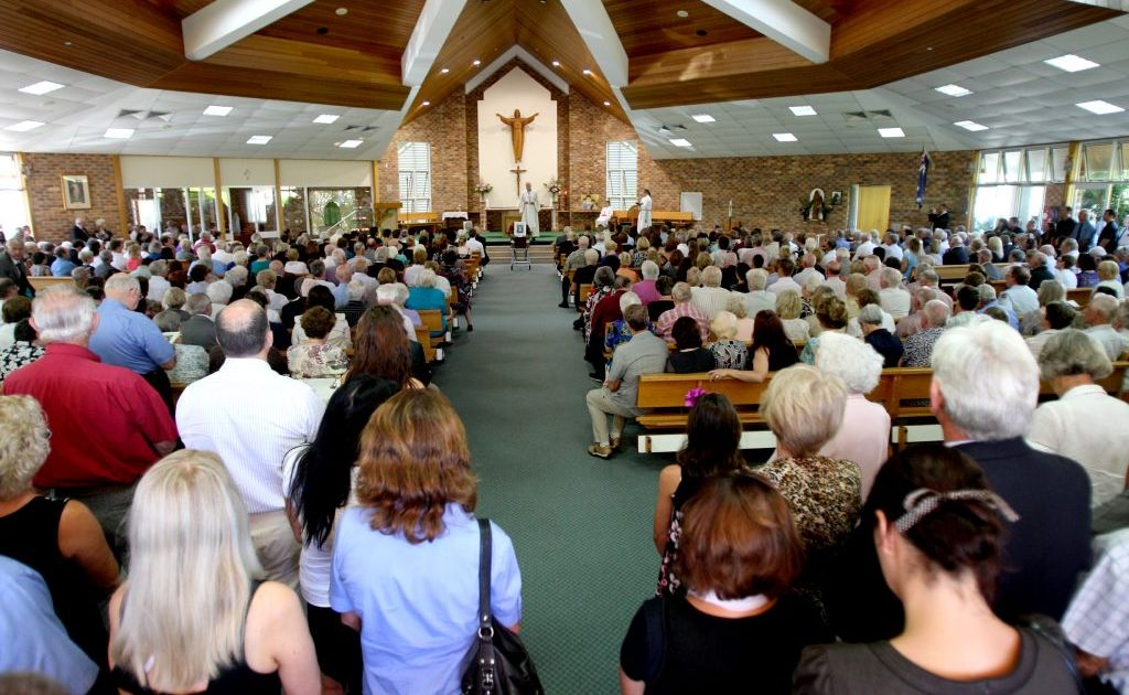 Hundreds of people filled St Anthony's Catholic Church to say goodbye to Maree Everingham.