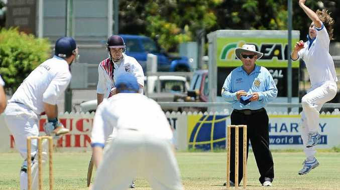 Tom Lever bowls for Brothers against Country Wests.