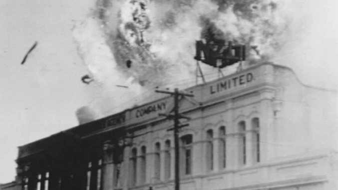 A fire at the New Zealand Loan building in January 1958 which had a number of explosions.