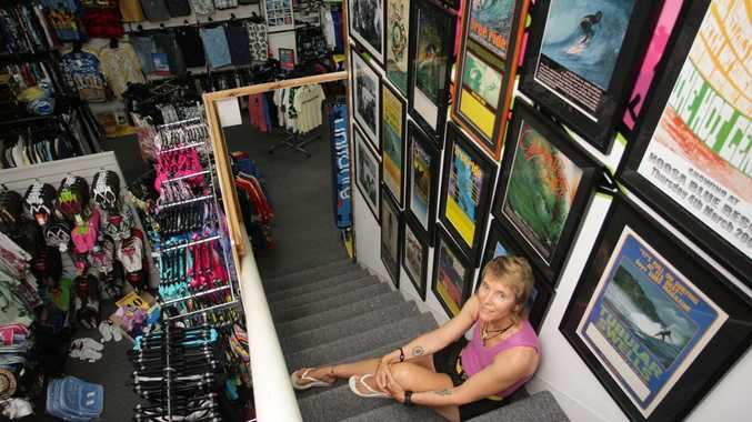 Sharon Jackson, owner of Da Bomb Surf Centre and Museum loves to share her passion for surfing.