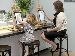 Opening door to drawing for kids