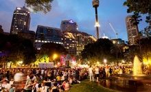 Many areas of Sydney's CBD were transformed into party zones during the Festival First Night event on Saturday.