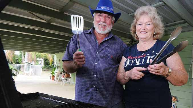 Rod and Jeanette Worbington prepare for their big Australia Day barbecue.