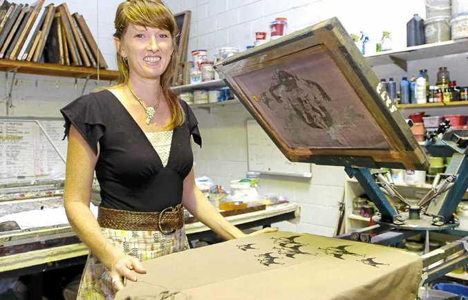 Kelli Donovan, from Pure Pod, of Lennox Head, in Anne Leon Design studio in Byron Bay.