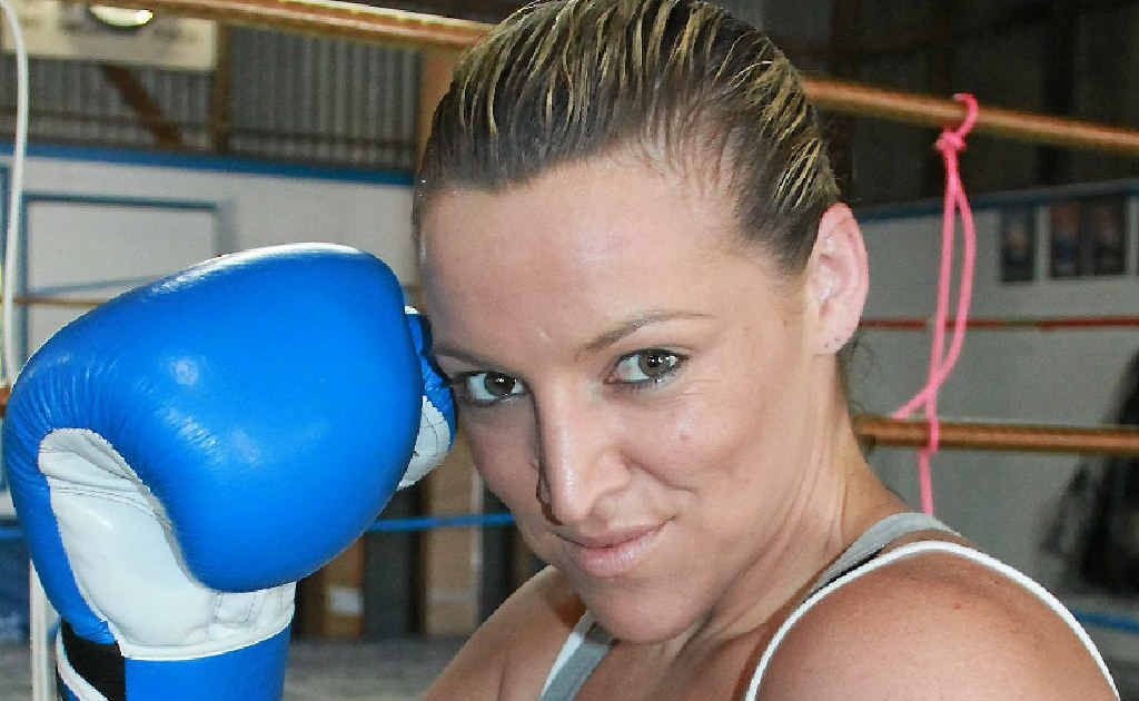 Katrina Harvey has one win from her two fights for the Warwick Boxing Club.