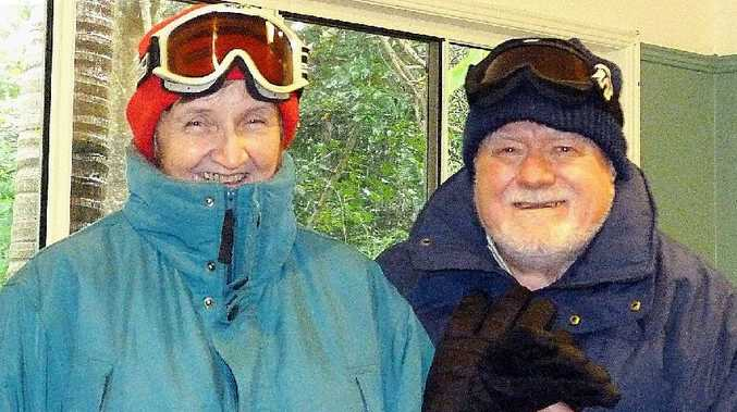 Dundowran Beach couple Libby and Ray Johnston will brave the snowy wastes chasing nature's greatest light show.
