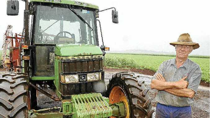 Cane farmer Alwyn Heidke is appreciative of the rain we are having this week.